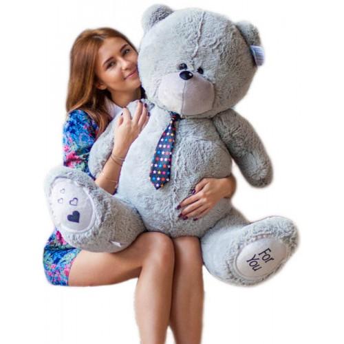 Большой мишка Тедди (Teddy) серый 130 см