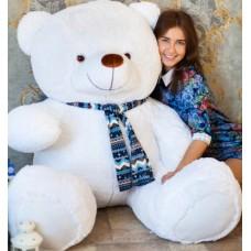 Гигантский плюшевый медведь 170 см (белый)