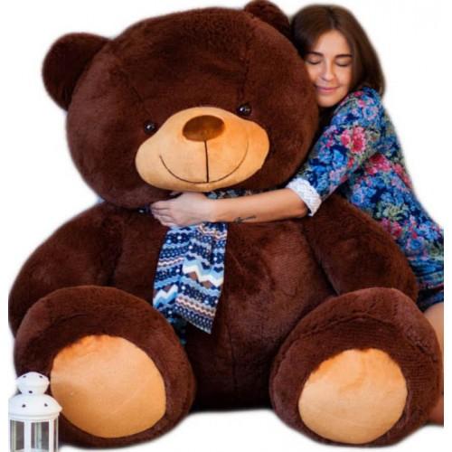 Гигантский плюшевый бурый медведь 170 см