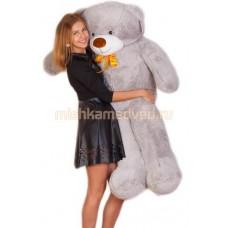 Двухметровый плюшевый медведь (серый)