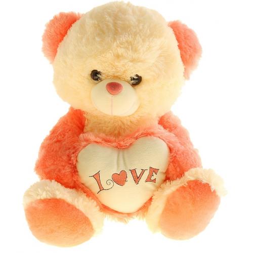 Розовый мишка с сердечком