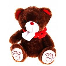 Плюшевый медведь коричневый шарфике 31 см