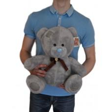 Мишка Тедди 45 см с надписью I Love You (серый)