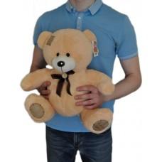 Мишка Тедди 45 см с надписью I Love You (бежевый)