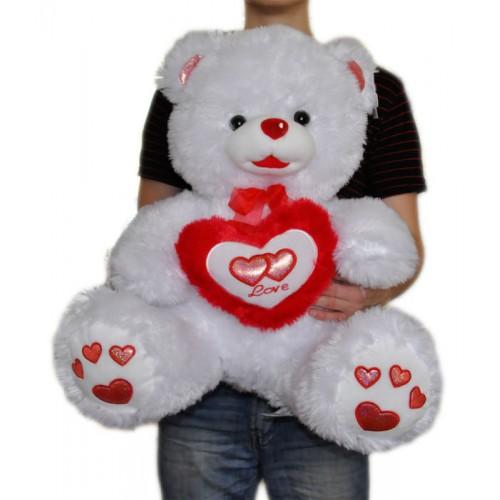 Мишка с сердечком 60 см