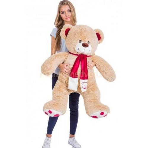 Подарок медведь 130 см кремовый