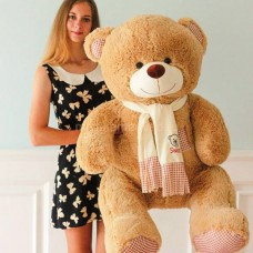 Плюшевый медведь 150см кремовый